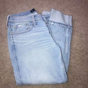 Hollister Crop Boyfriend Jeans